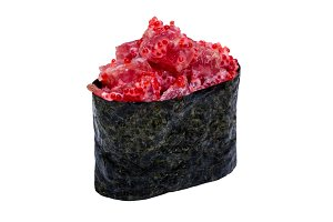 Sushi with caviar in nori leaf
