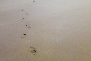 Footsteps left behind