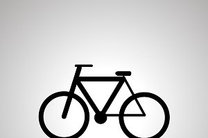 Bicycle simple black icon