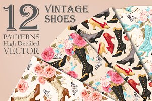 Vintage Shoes Patterns