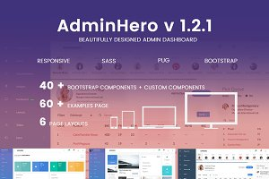 AdminHero - Admin Dashboard Template