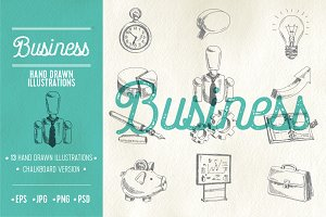 Hand drawn business illustrations