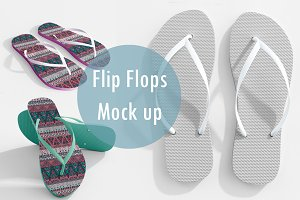 Realistic Flip Flops Mock up