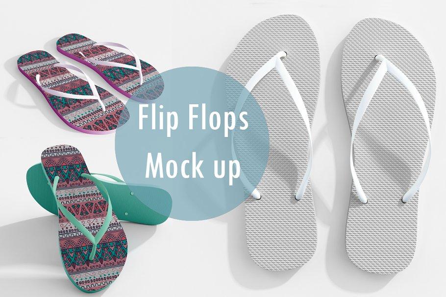 a802d6b32 Realistic Flip Flops Mock up ~ Product Mockups ~ Creative Market