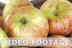 Taking fresh apple fruits on breakfast