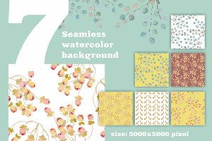 7 Seamless watercolor background