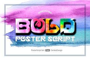 PosterScript New Display Font Face