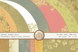 Antique Color & Gold Foil Shabby Set