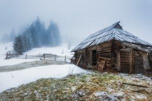 Polonyna winter near TIF
