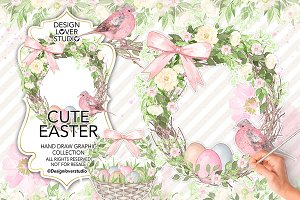 Watercolor Cute Easter design