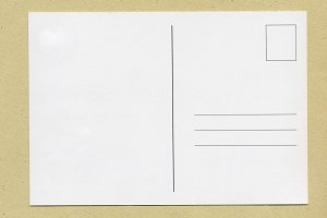 blank post card with copy space