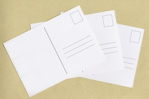 blank post cards with copy space