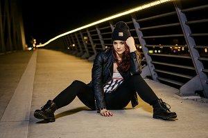 Girl on bridge collection