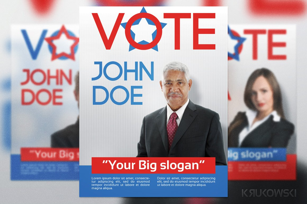 Political flyer Photos Graphics Fonts Themes Templates – Election Brochure