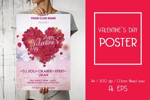 Valentine`s Day Party Poster