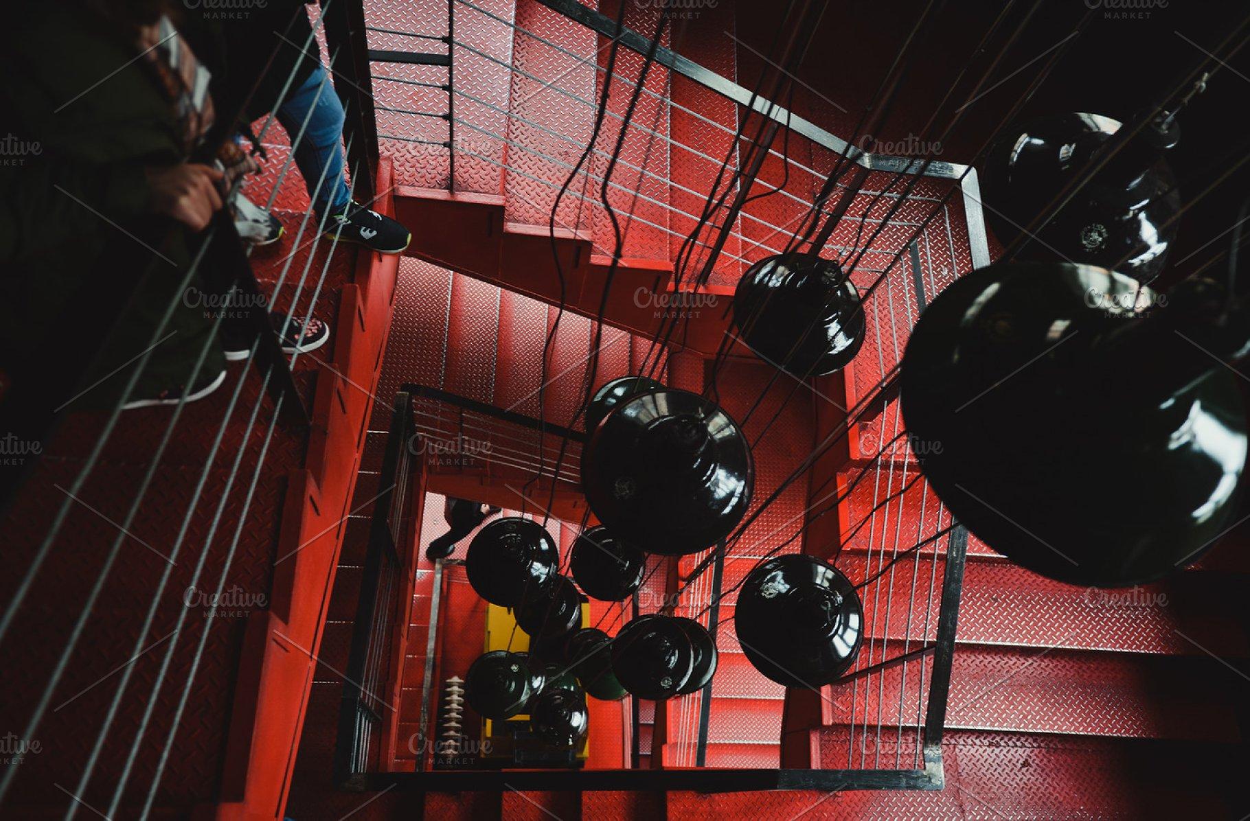 Red Metal Stair