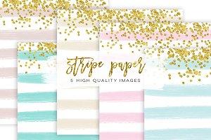 Stripe Confetti Gold Paper Texture