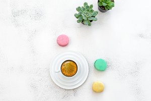 Coffee  macarons cookies