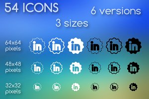 Social media icons - flower shape