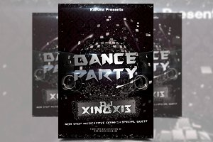 A3 Dance Club Party Poster