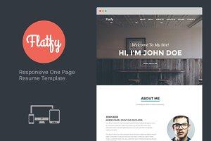 Flatfy - Responsive Resume / CV
