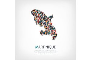 people map country Martinique vector