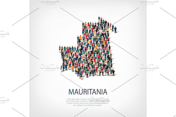 people map country Mauritania vector
