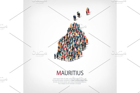 people map country Mauritius vector