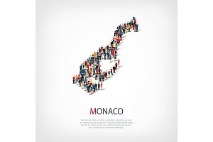 people map country Monaco vector