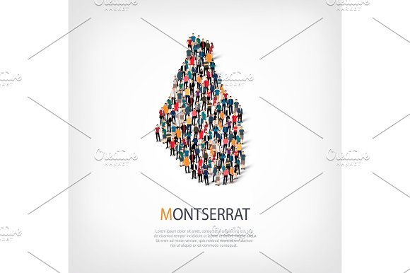 people map country Montserrat vector