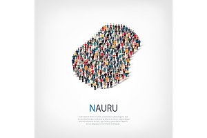 people map country Nauru vector