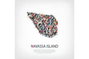people map country Navassa Island vector