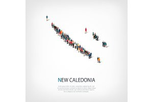 people map country New Caledonia vector