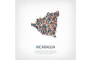 people map country Nicaragua vector