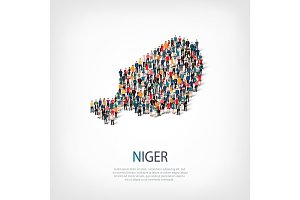 people map country Niger vector