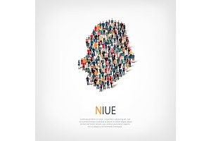 people map country Niue vector