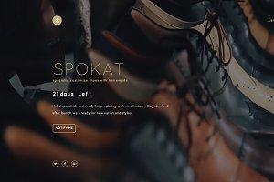 Spokat Coming soon PSD Template