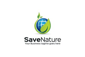 Save Nature Logo Template