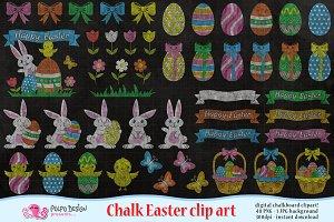 Chalkboard Easter clipart