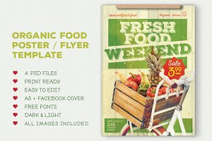 Organic food flyer / poster