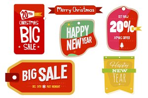 Christmas & New Year Labels