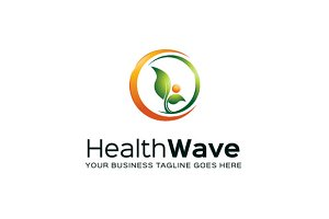 Health Wave Logo Template