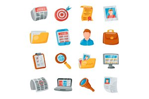 Job search icons vector set.
