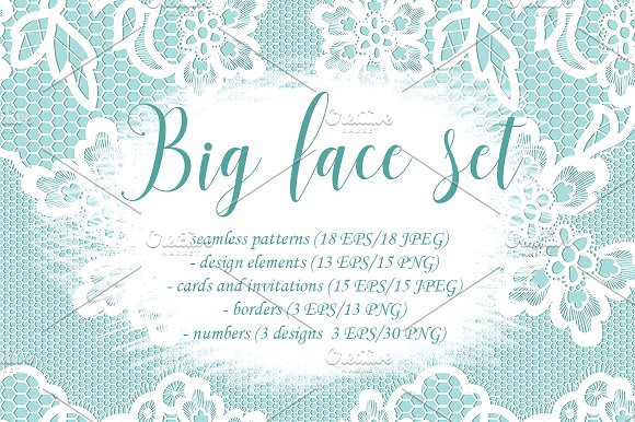 Big Lace Set Vector