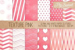 Texture Pink 12 Pattern Set
