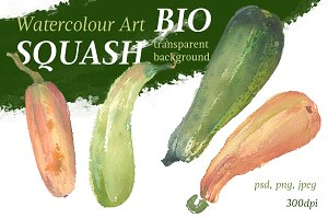 Organic vegetable, watercolour Art