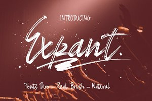 Expant (Fonts Duo+Swash)