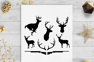 deer hunting svg dxf