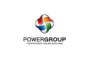 Power Group Logo Template