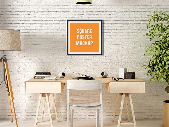 Download Square Poster Mock-Up
